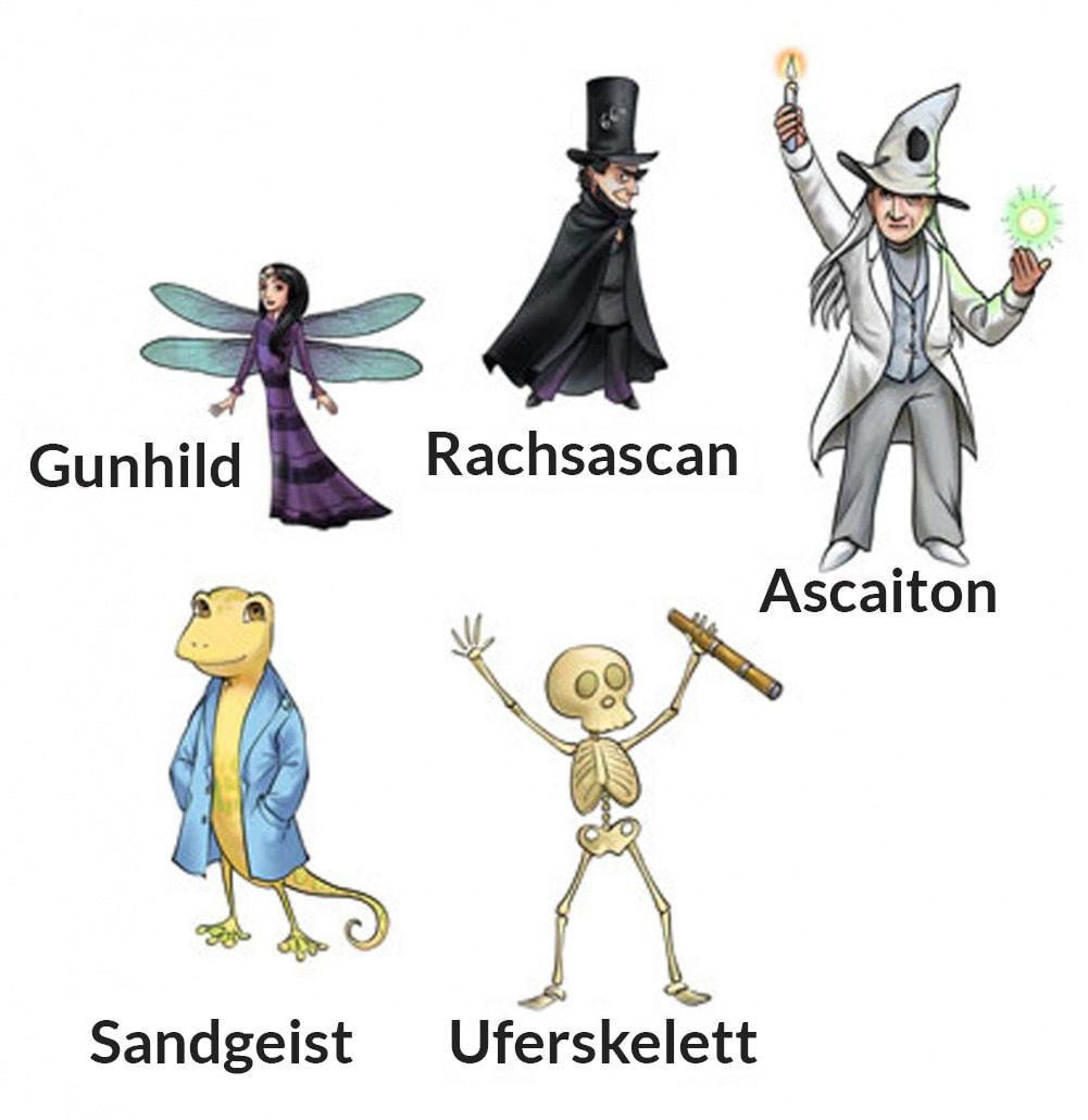 Kinderbuch mit Fantasie - Diana & Julius Figuren
