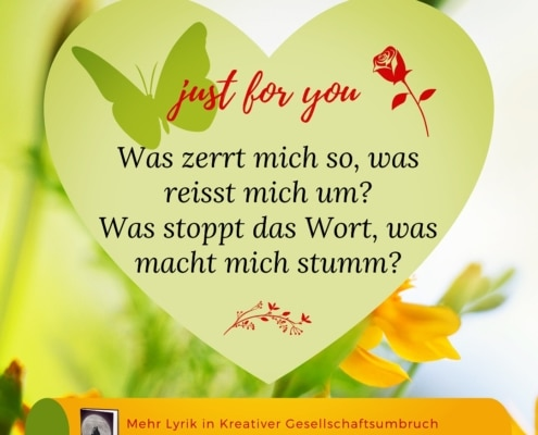 Just for you-Kreativer Gesellschaftsumbruch