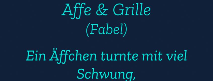 Affe & Grille Fabel KLDM Kreativer Gesellschaftsumbruch