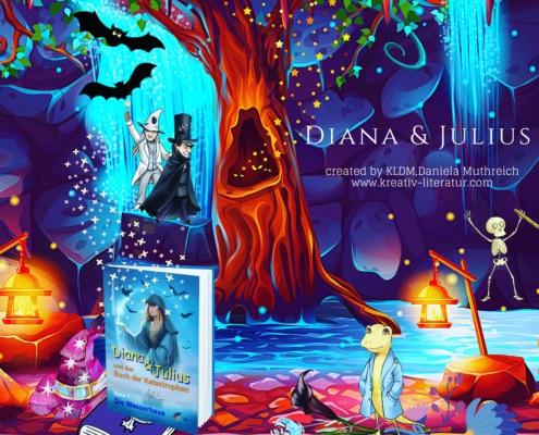 Berghöhle Diana und Julius Fantasybuch
